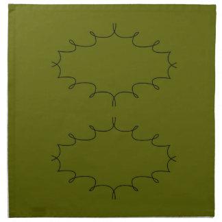 Design elements olives napkin