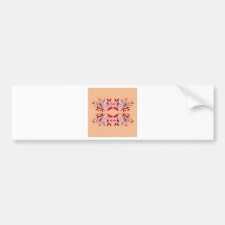 Design elements on beige bumper sticker
