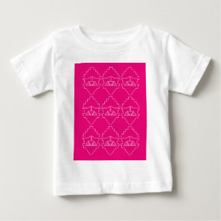 Design elements on pink baby T-Shirt