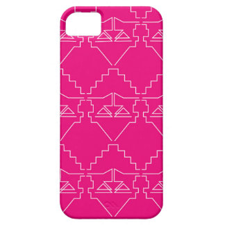 Design elements on pink case for the iPhone 5