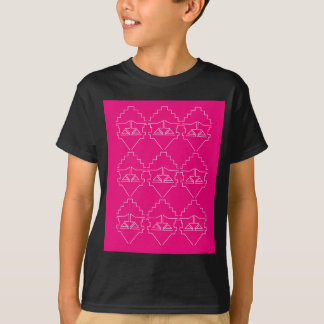 Design elements on pink T-Shirt