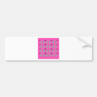 Design elements pink bumper sticker