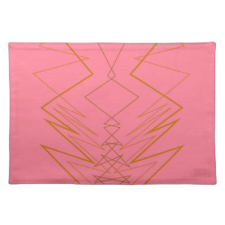 Design elements pink gold zig zag placemat
