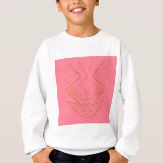 Design elements pink gold zig zag sweatshirt