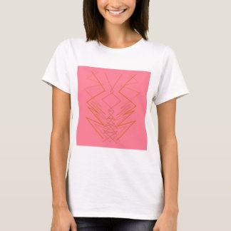Design elements pink gold zig zag T-Shirt