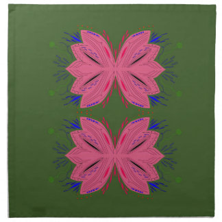 Design elements pink green napkin