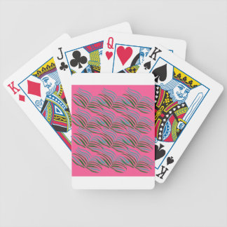 Design elements pink leaves exotic bicycle playing cards