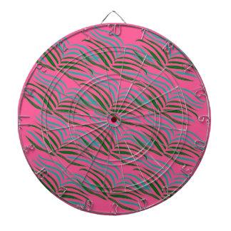 Design elements pink leaves exotic dartboard