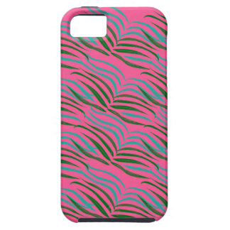 Design elements pink leaves exotic iPhone 5 case
