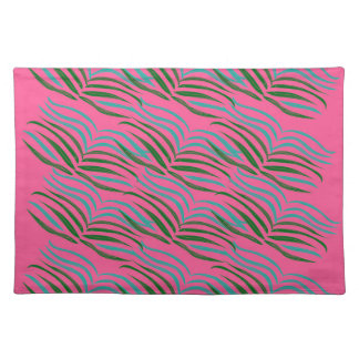 Design elements pink leaves exotic placemat