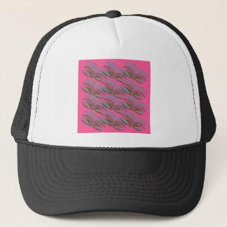 Design elements pink leaves exotic trucker hat