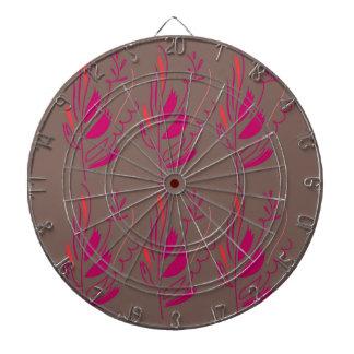 Design elements pink  red ethno dartboard