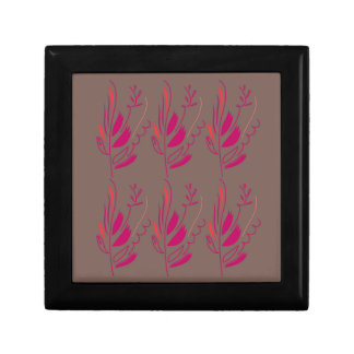 Design elements pink  red ethno gift box