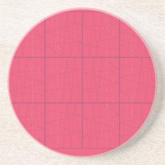 Design elements pink zig zag coaster