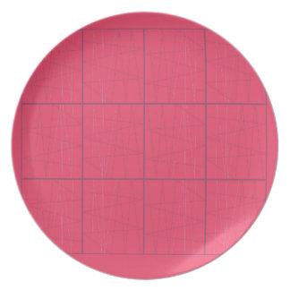 Design elements pink zig zag plate