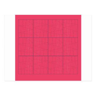 Design elements pink zig zag postcard