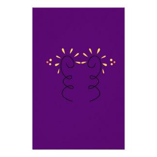 Design elements purple wine stationery