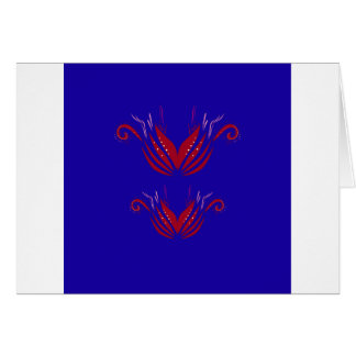 Design elements  red blue card
