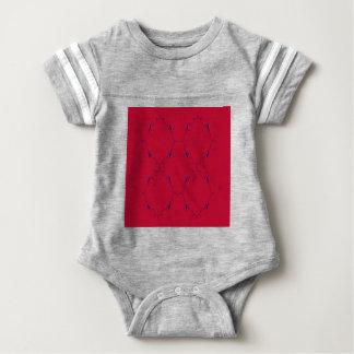 Design elements red blue  Folk Baby Bodysuit