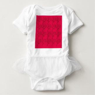 DESIGN ELEMENTS RED  FOLK BABY BODYSUIT
