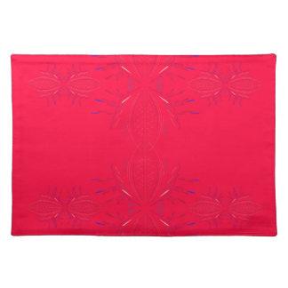 Design elements  red lace placemat