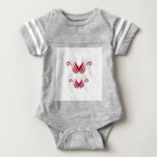 Design elements  Red on white Baby Bodysuit