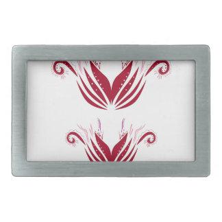 Design elements  Red on white Belt Buckle