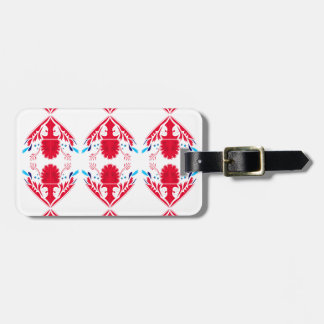 Design elements  Red on white Luggage Tag