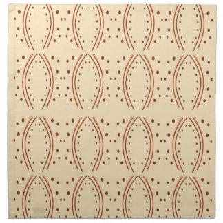Design elements vanilla napkin
