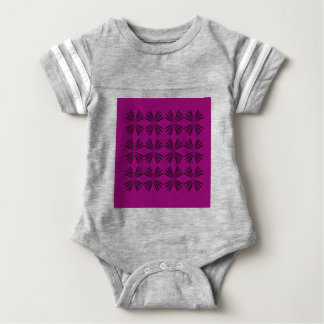 Design elements wine black baby bodysuit