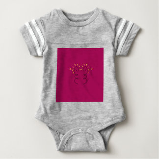 Design elements wine  Nostalgia Baby Bodysuit