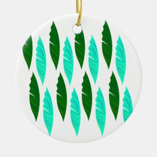 Design elements with Green leaves Ceramic Ornament