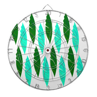 Design elements with Green leaves Dartboard