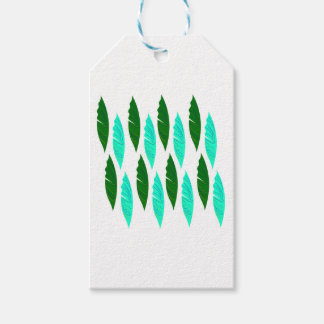 Design elements with Green leaves Gift Tags