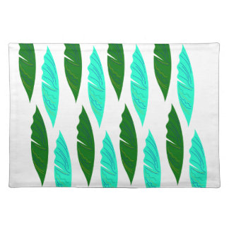Design elements with Green leaves Placemat