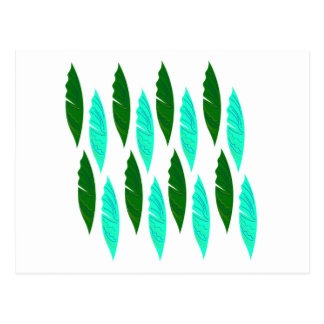 Design elements with Green leaves Postcard
