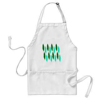 Design elements with Green leaves Standard Apron