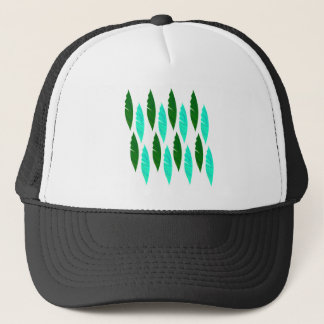 Design elements with Green leaves Trucker Hat
