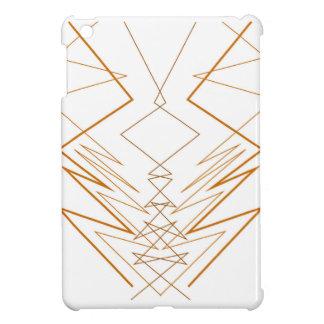 Design elements zig zag on white case for the iPad mini