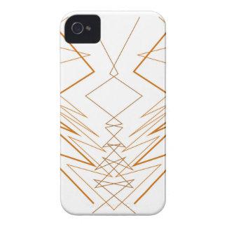 Design elements zig zag on white iPhone 4 Case-Mate case