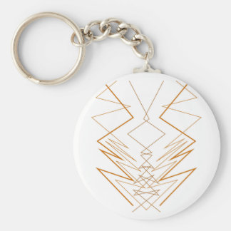Design elements zig zag on white keychain