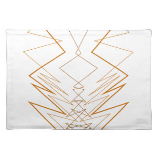 Design elements zig zag on white placemat