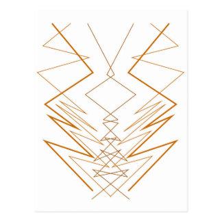 Design elements zig zag on white postcard