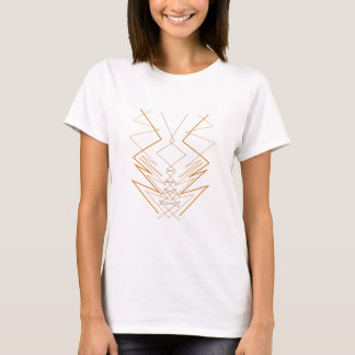 Design elements zig zag on white T-Shirt