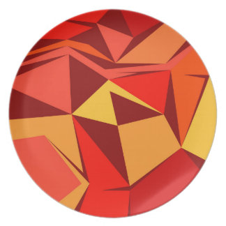 Design ethnic blocks plate