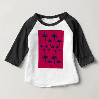 Design ethno Palms deep  red Baby T-Shirt