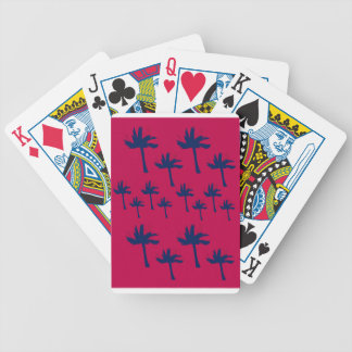 Design ethno Palms deep  red Bicycle Playing Cards