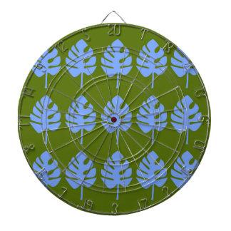 Design exotic leaves blue  red dartboard