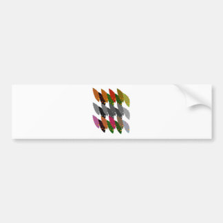 Design exotic Leaves Bumper Sticker