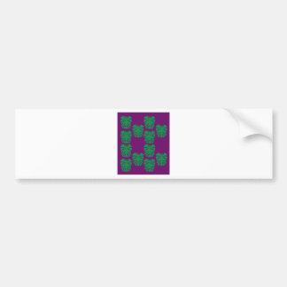 Design exotic leaves eco green bumper sticker